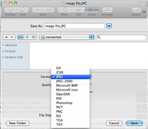 How to convert images on Mac for free