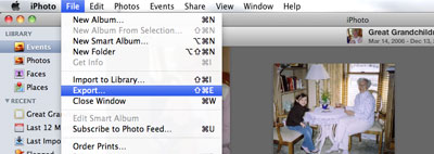 How to export videos from iPhoto on Mac