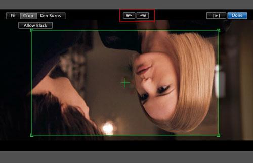 How to use iMovie to rotate videos
