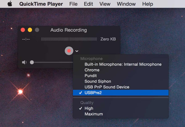 Record Video Call with Quicktime