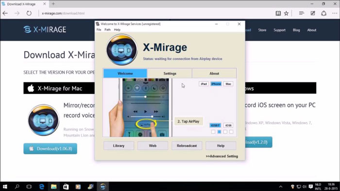 Screen Recording App for iOS Xmirage