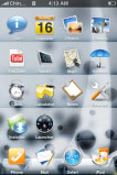 free iPhone themes - Bubble Invert V3