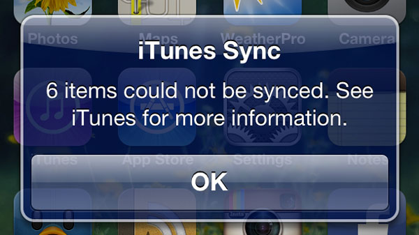 iTunes can't Sync