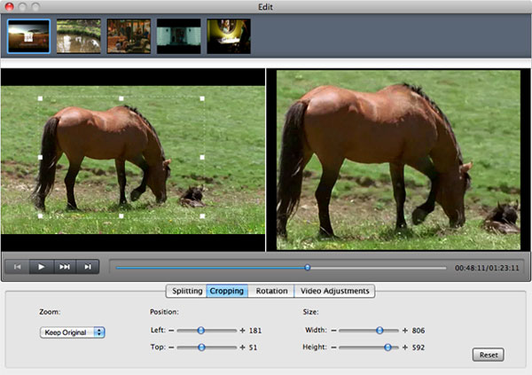 Crop Video with Mac Video Converter