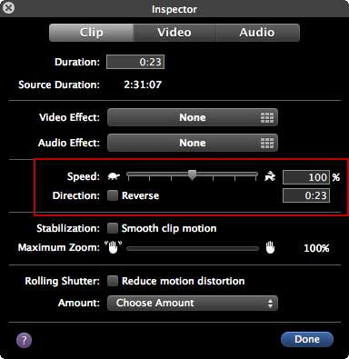 Speed Up Video with iMovie