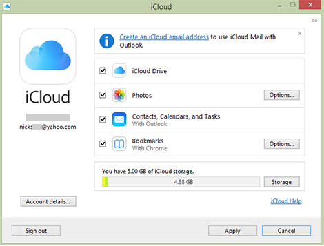 Access iCloud Data with Control Panel