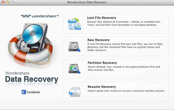 Data Recovery for Mac Mode