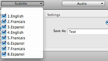 select subtitle and audio track in converting DVD to MKV