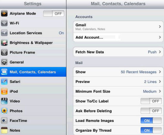 Sync Contacts from Google Account to iPhone