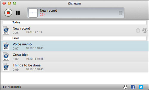 Free Audio Recorder for Mac - iScream