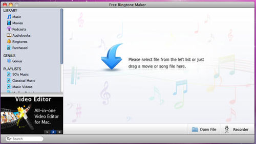 Freeware Ringtone Maker for Mac - Free Ringtone Maker