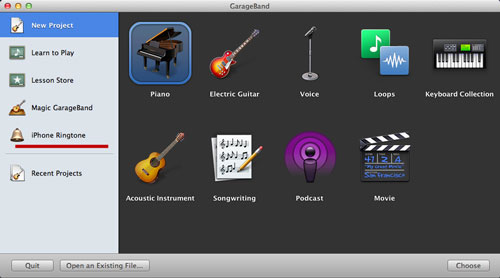 Freeware Ringtone Maker - GarageBand