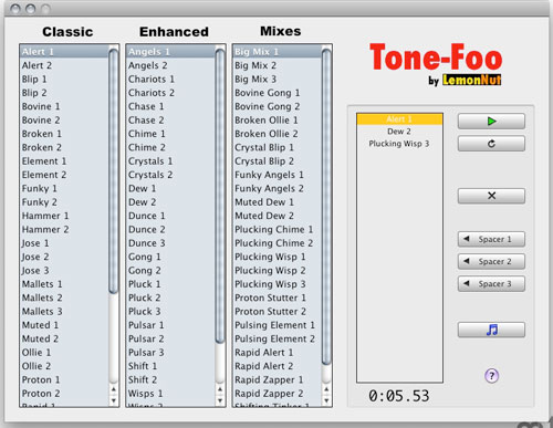 Freeware Ringtone Maker for Mac - Tone-Foo