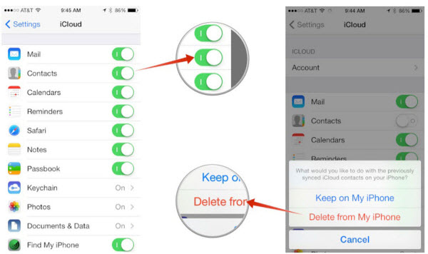 Backup contacts with iCloud