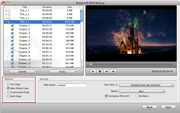 DVD Copy for Mac Screenshot