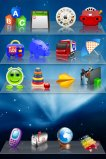free iPhone themes - Toys on Shelves