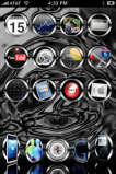 free iPhone themes - Black Chrome