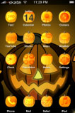 free iPhone themes - Jack-O-Lantern SB