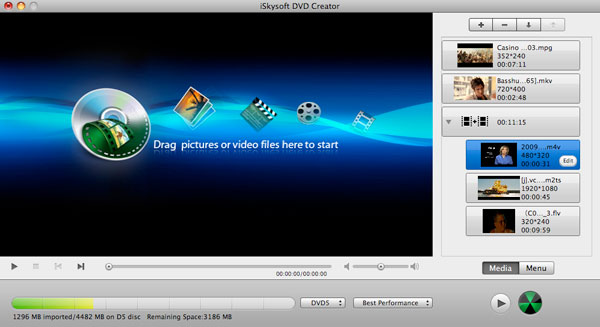 add movie to dvd creator for mac