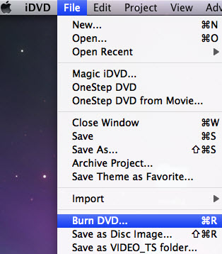 iDVD burn blu-ray video to DVD