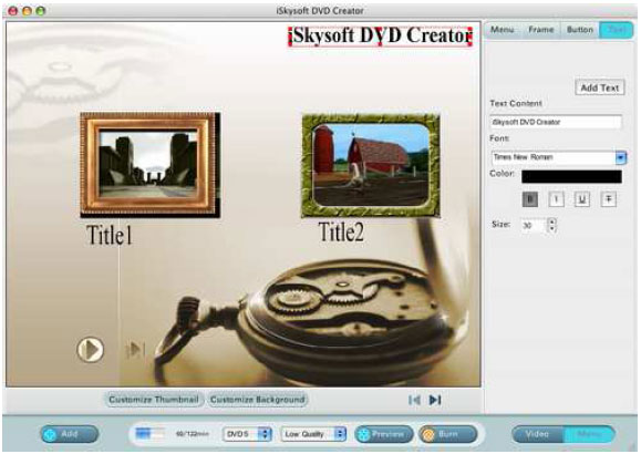 convert video to dvd and burn dvd on mac