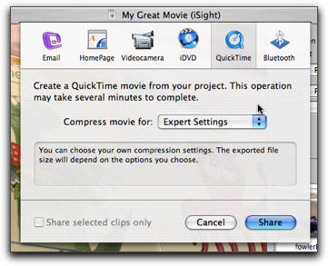 export imovie to quicktime