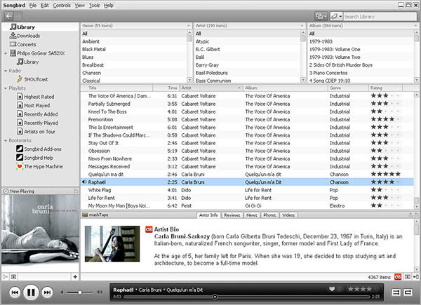 Free Mac iPod File Transfer - Songbird