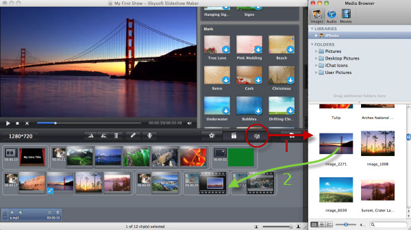 import media into slideshow maker for mac