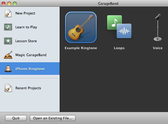use garageband to make ringtone