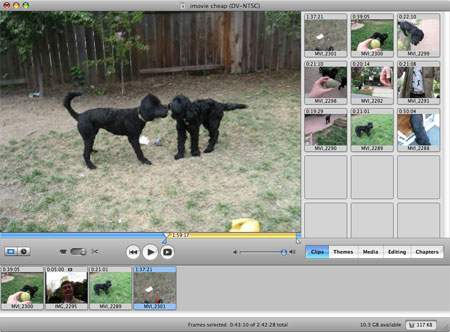 add video into imovie