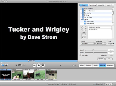 add title to imovie