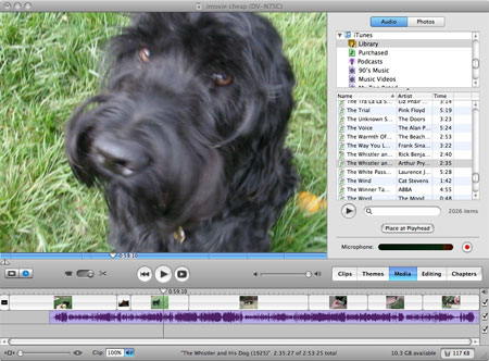 add sound to imovie video