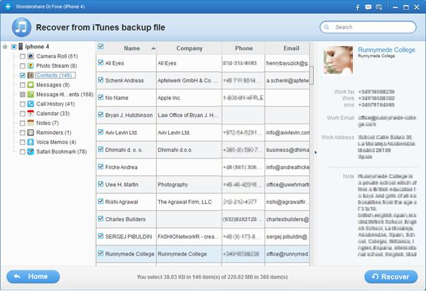 Recover iPhone Data with iTunes Backup